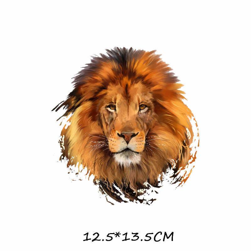 Железный тигр, лев, леопард нашивки для одежды DIY Футболка аппликация теплопередача виниловые наклейки для одежды термопресс