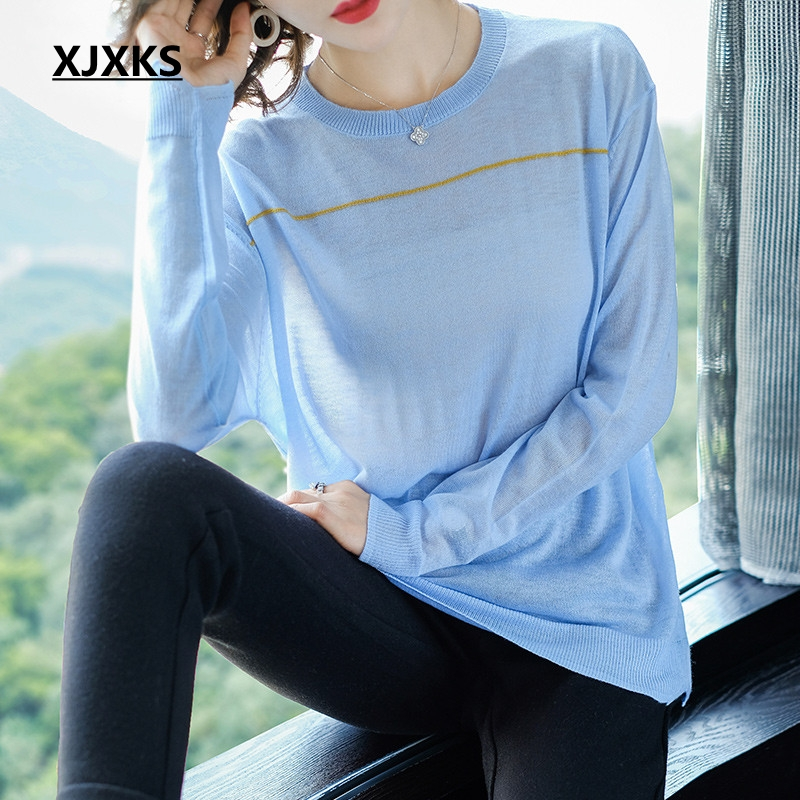 Loose purple Thin Good Oversized Pullover Translucent Batwing Quality blue Black Ulzzang Xjxks khaki Knitted Sleeve Sweater Women F15nq