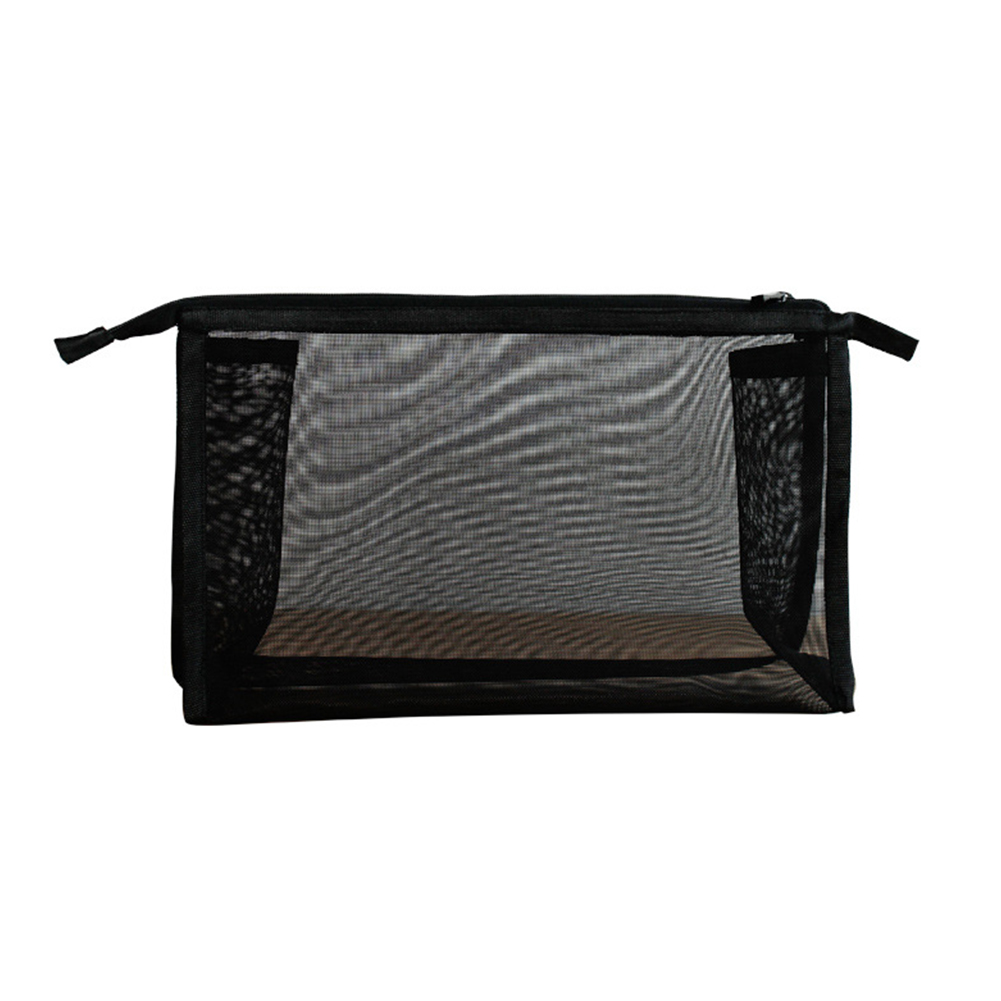 Women Storage Transparent Organizer Cosmetic Portable Travel Makeup Bag Mesh Washing Nylon Toothbrush Pouch in Cosmetic Bags Cases from Luggage Bags