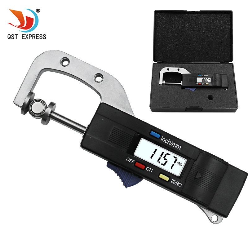 0-25mm Digital Horizontal Thickness Gauge 0.01mm Jewelry Pearl Ruler Round Diameter Metal Measuring Thickness Meter Micrometer thickness measuring gauge 0 3125 0 007 scale stainless steel round diameter gage tool for non ferrous wire and metal