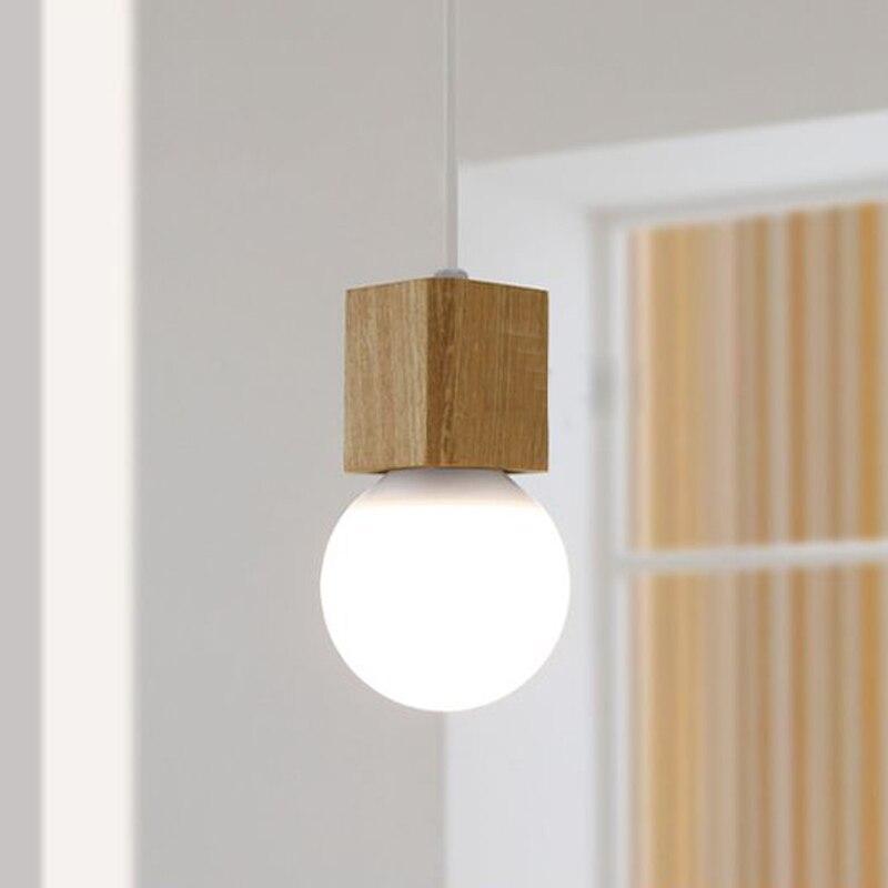 Nordic Creative solid Wood Led Pendant light Cafe Restaurant Wood Pendant lamp Modern lighting Hanging Lamp for Home Lighting цена и фото