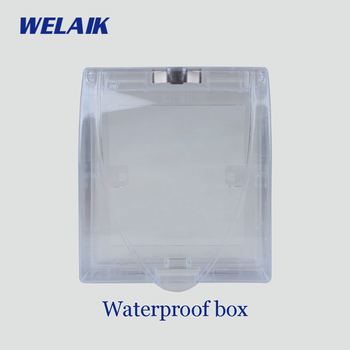WELAIK UK Wall-switch-transparente-Caja impermeable-retardante de llama de plástico-ABS B-FSH