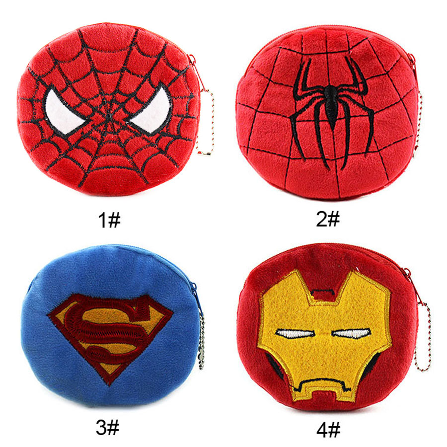 XYDYY Cartoon Spider-man Coin Purse Animals Girls Plush Mini Wallet Change Wallet Women Key Coin Children Kids Gift пластилин spider man 10 цветов