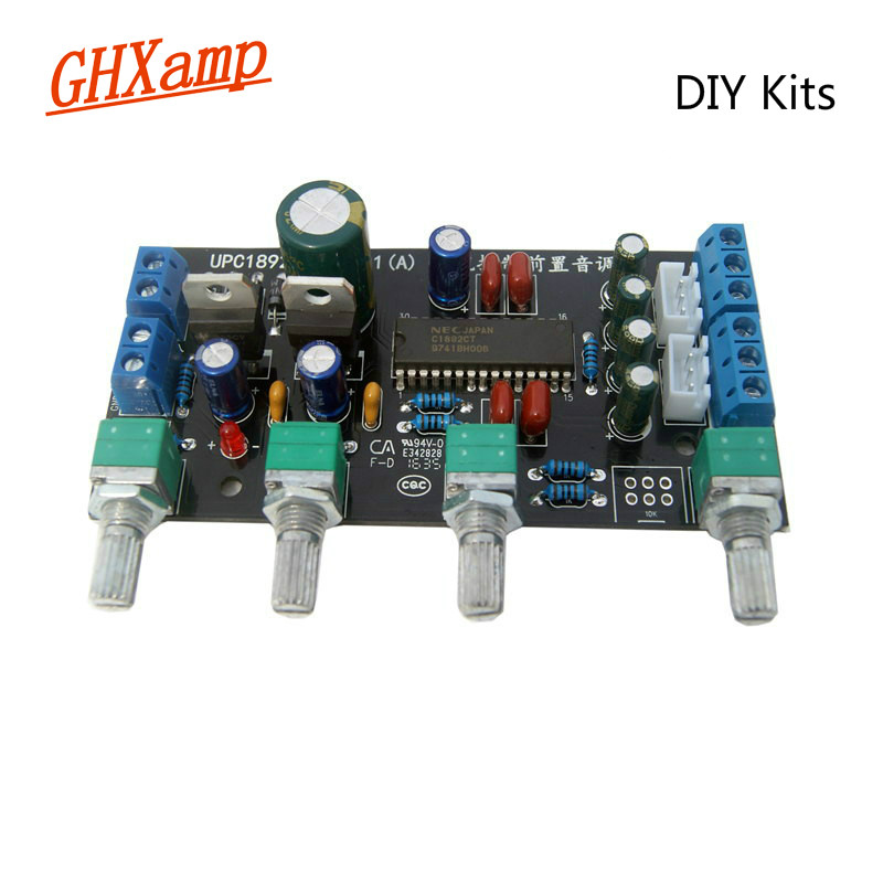 GHXAMP UPC1892 Preamplifier Tone Control Board Kits Speaker Amplifiers DIY Mini Preamp Treble Bass adjust 100x48mm