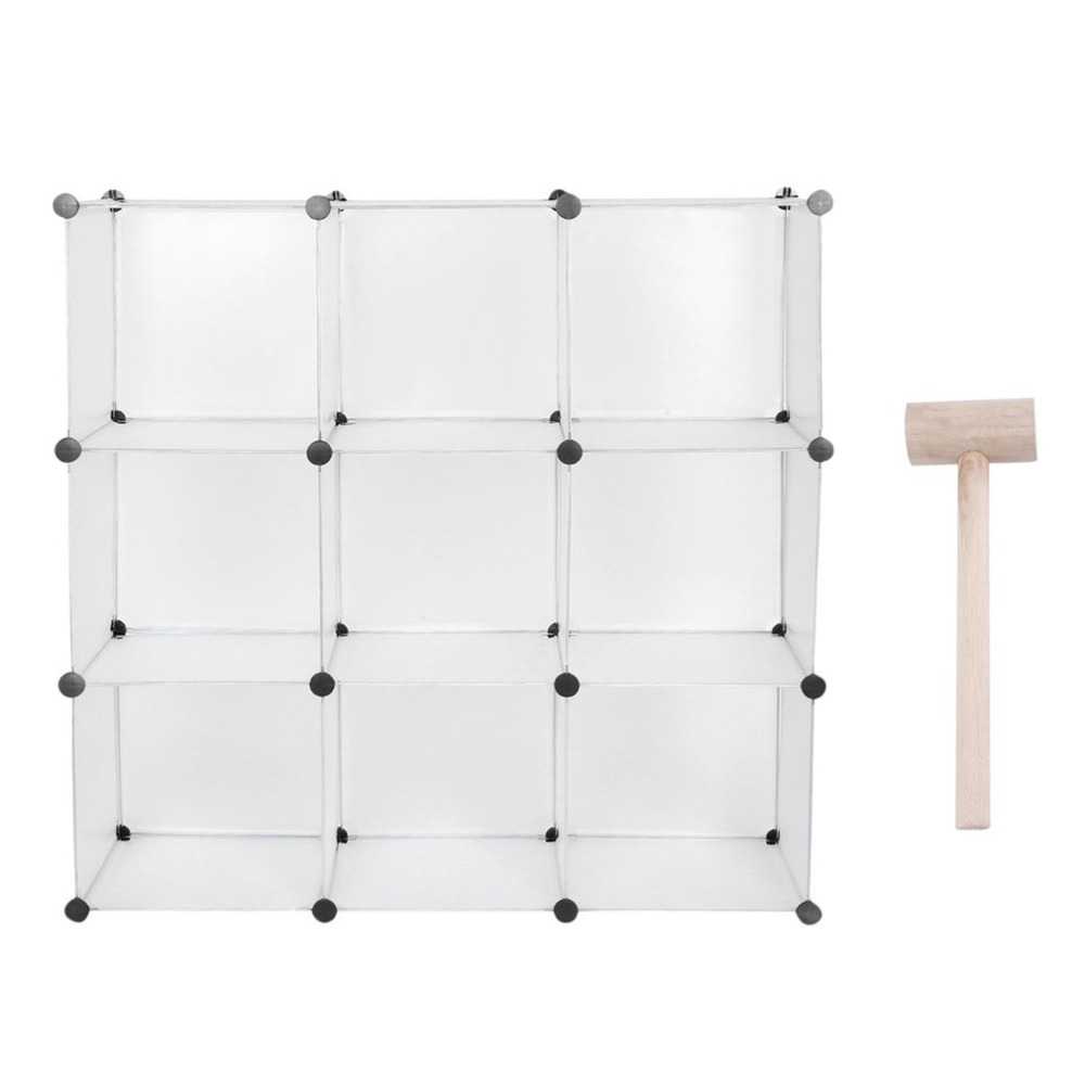 9 Lattice Clothes Wardrobe DIY Magic Piece Resin Storage Cabinet Shoes Rack  Simple Assembled Wardrobes Bedroom Home Furniture