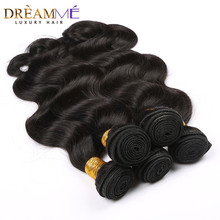 Brazilian Body Wave Human Hair Extension 100% Remy Hair Weave Bundles  Natural Black Color  Dreaming Queen Hair Products