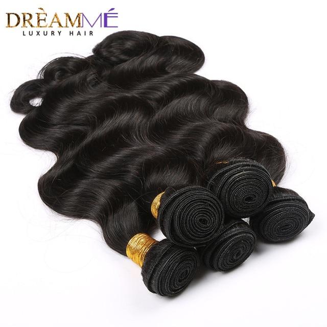 Extensión brasileña del pelo humano de la onda del cuerpo 100% extensiones de pelo ondulado Natural de la Reina del sueño del Color negro productos del pelo