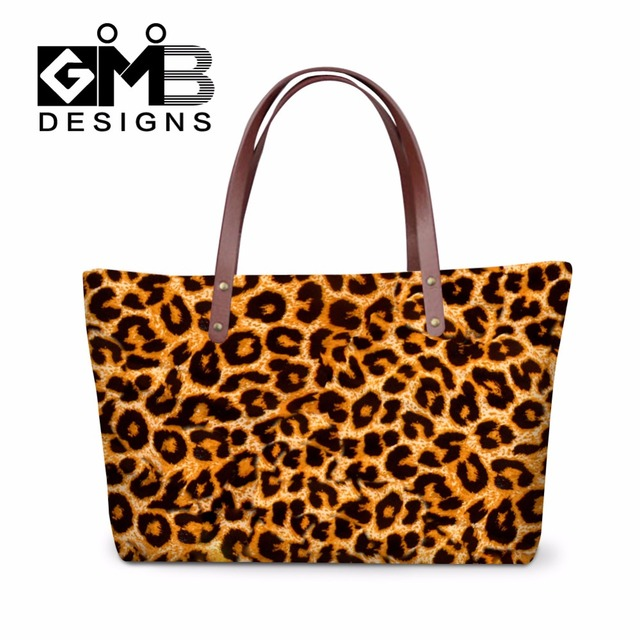 Leopard Printed Shoulder Handbags For Women Clear Large Tote Bags Female Handbag Organizer Insert