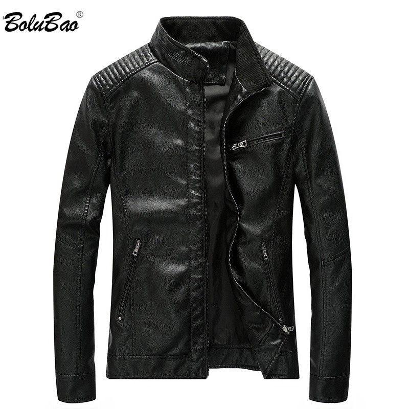 BOLUBAO  Fashion Men's PU Jackets Coats Motorcycle Leather Jackets Men Autumn Leather Clothing Male Casual Brand Coats