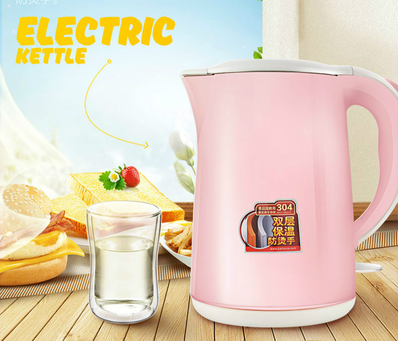 лучшая цена All steel seamless household electric kettle 304 stainless boiling Safety Auto-Off Function