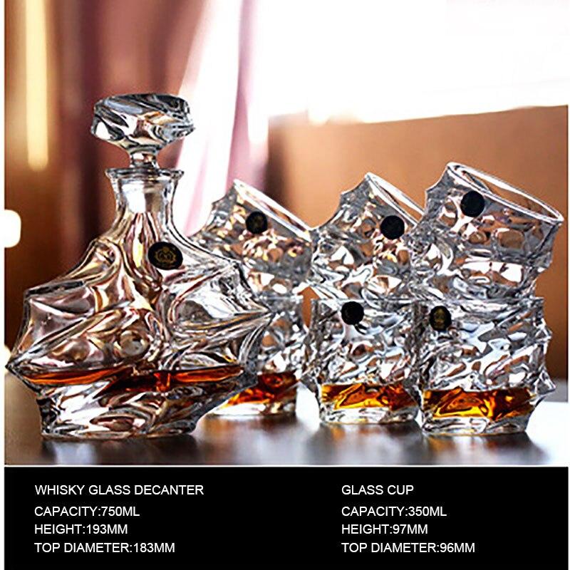 #25 виски Стекло 1 компл. 1 шт. Стекло бутылки графины 750 мл UPS Express 6 шт. Стекло чашки высокое качество сейф