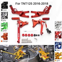 CNC Aluminum Adjustable Rearsets Foot Pegs For Benelli TNT125 TNT 125 2016 2017 2018