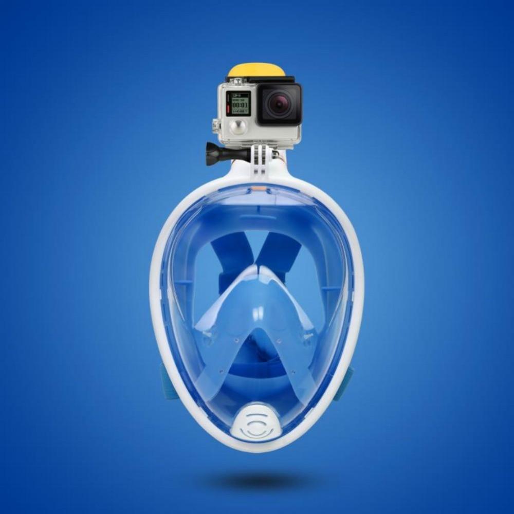 Full Face Swimming Mask Panoramic View Anti-fog Anti-Leak Swimming Scuba Underwater Diving Mask GoPro Compatible