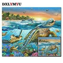 3D Diamond Embroidery Turtles Diy Painting underwater world Decorative Handwork Resin stone Square drill needlework