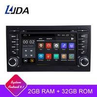 LJDA 2 Din Android 8.1 Car Radio For Audi A4 S4 RS4 2GB RAM Car Multimedia Headunit Stereo Auto Audio GPS DVD VIDEO IPS Screen