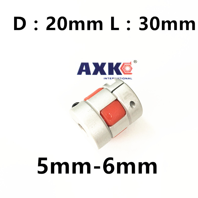 20pcs CNC jaw spider Coupler 5mm*6mm shaft Coupling 5mm to 6mm D20mm L30mm