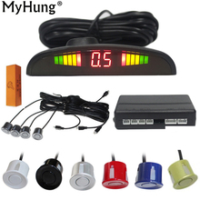 Car Led Parking Sensors Parktronic Display 4 Reverse Assistance Radar Monitor System Auto Accessories Styling