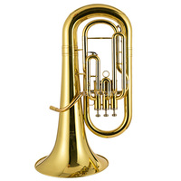 Professional Euphonium 3 Straight Key Bb Bass French Horn Gold Lacque Trumpet Brass Material Musical Instruments JBEP 1180
