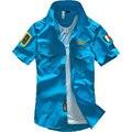 Мода ввс равномерное военно короткий рукав рубашки мужские рубашки бесплатная доставка Bcy60A военной форменной рубашки 36