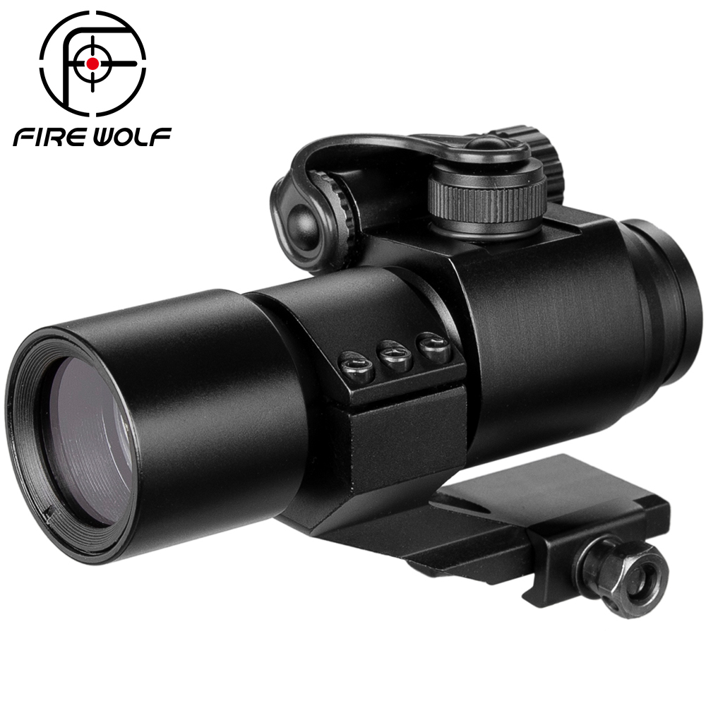 Hunting Riflescopes 32mm M2 Sighting Telescope Laser Gun Sight With Reflex Red Green Dot Scope For Picatinny Rail Scope Mildot