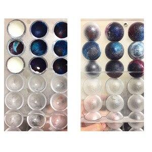 Image 5 - 초콜릿 6/8/12/15 대형 반구 모양 초콜릿 폴리 카보 네이트 금형 3d 폴리 카보 네이트 캔디 젤리 금형 도구