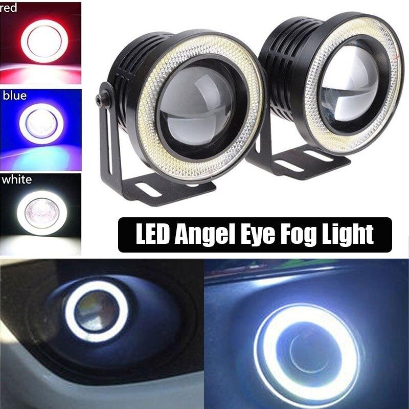 3 дюйма 2 шт ходовой свет Ангел глаз лампа украшение Автомобильный светодиодный Универсальный противотуманный фонарь линзы лампы прочные автомобили