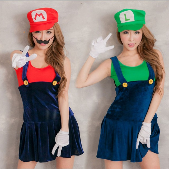 Video Game Cosplay Super Mario Bros Cosplay Costume Mario Sisters Sexy Girls Mini Dress Halloween Costumes  sc 1 st  AliExpress.com & Video Game Cosplay Super Mario Bros Cosplay Costume Mario Sisters ...