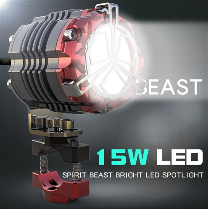 SPIRIT BEAST External Headlamps Motorcycle Auxiliary Lights Highlight Super Bright Lights LED Spotlights Modified Accessories