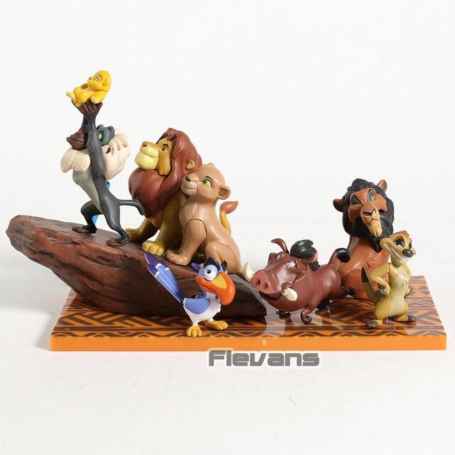 WCF The Lion King Simba Mufasa Kiara Pumbaa Timon Rafiki Scar PVC Figures Collectible Toys Dolls 6pcs/set
