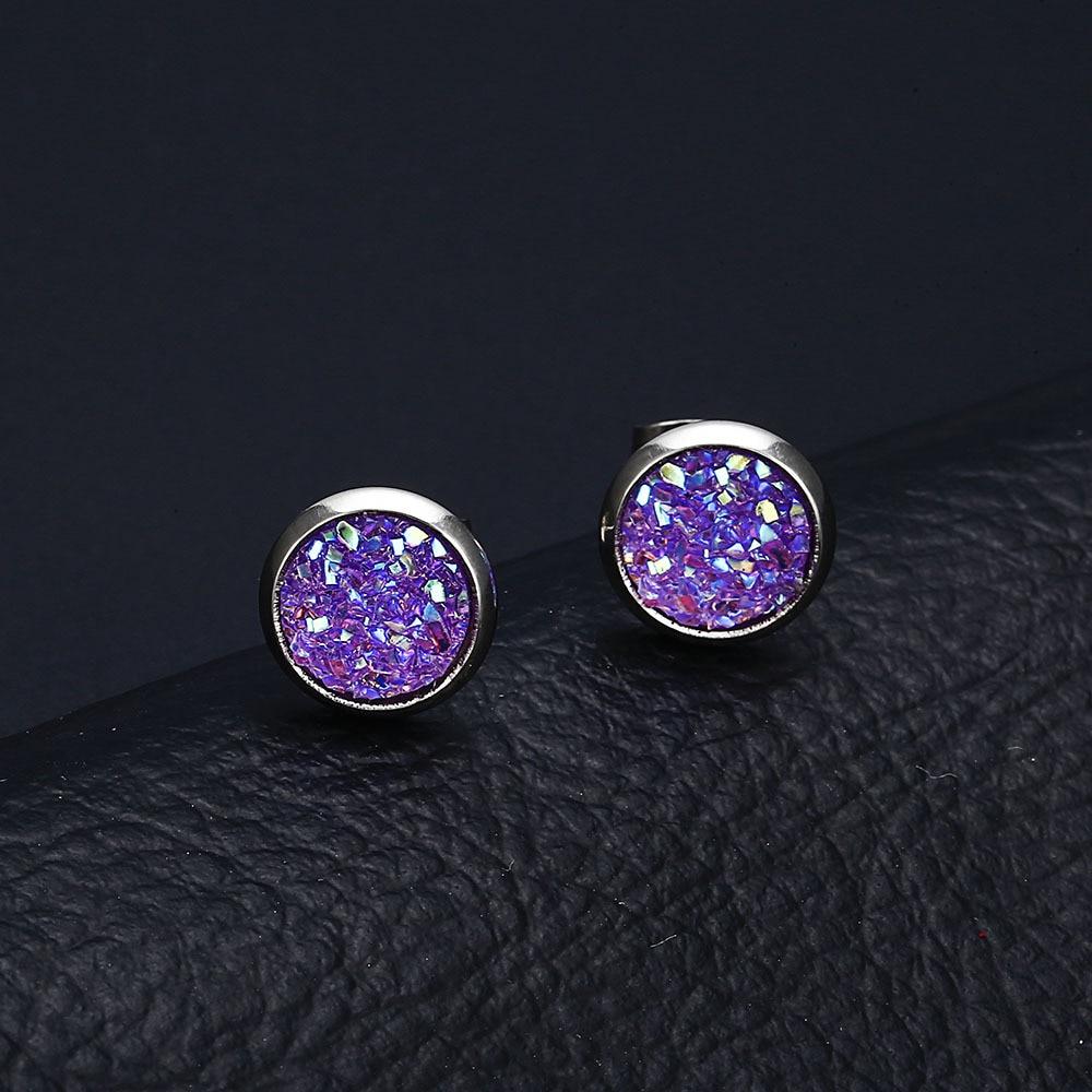 2019 New Fashion Rhinestone Small Stud Earrings For Women Shiny Crystal Earrings Jewelry Wedding Party Gift