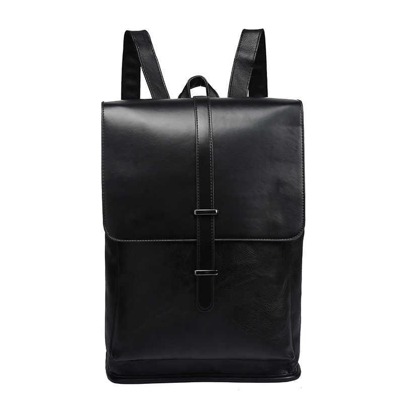 12793d6d2763 ... Бренд для мужчин рюкзаки Винтаж кожаный мужской ноутбук рюкзак бизнес  дорожная школьная сумка для колледж повседневное ...