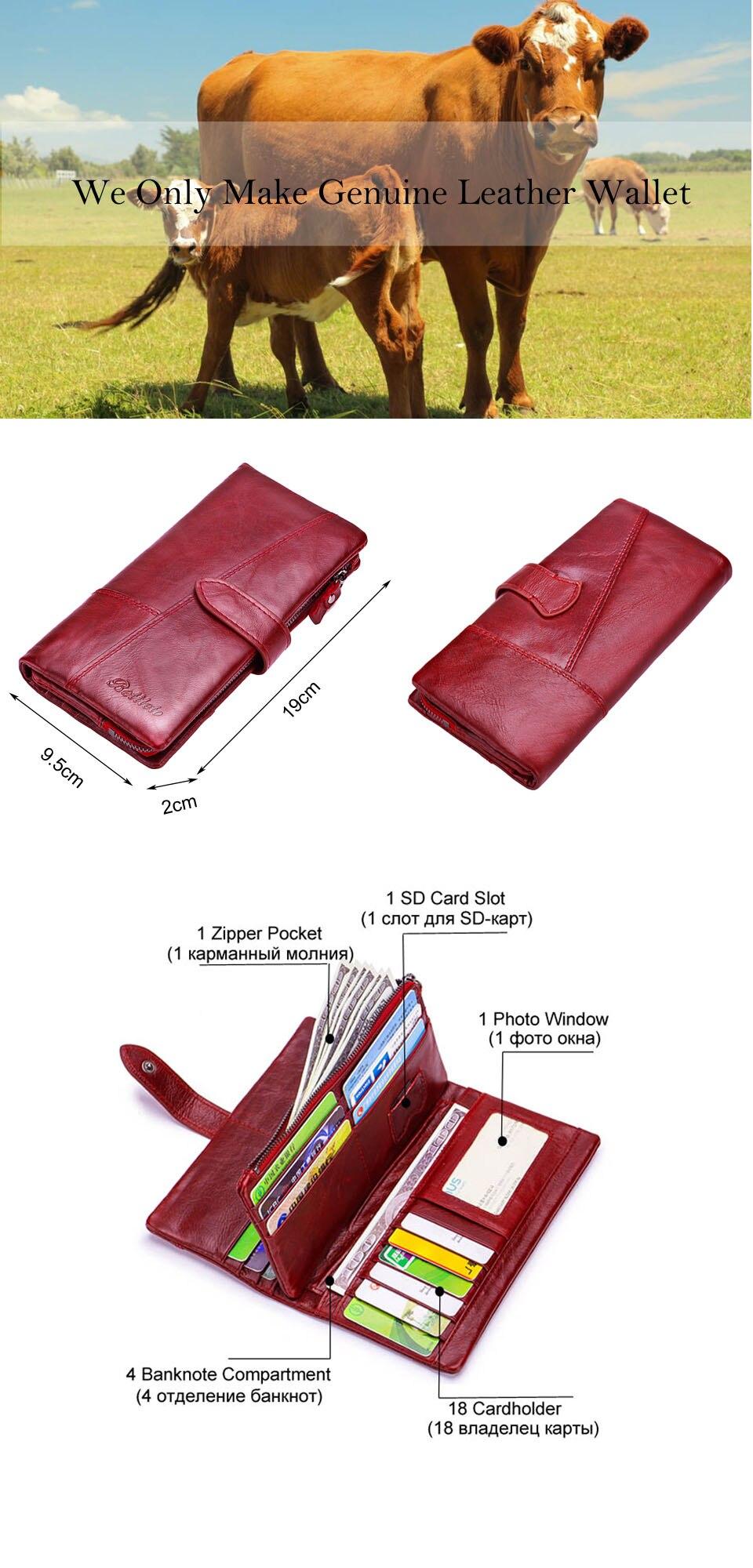genuíno carteira feminina carteras embreagem portomonee partmone