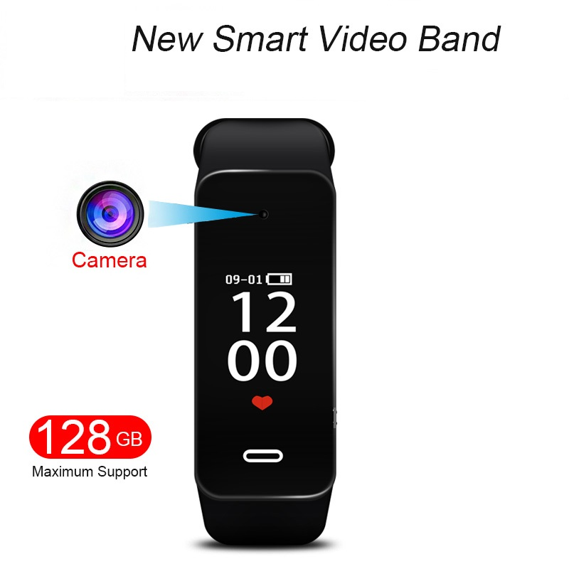 K10 1080 P Pulseira de Tela OLED HD Mini câmera Mini Câmera DV Gravador de Voz Gravação de Vídeo Repórter Faixa de Relógio Inteligente pulseira