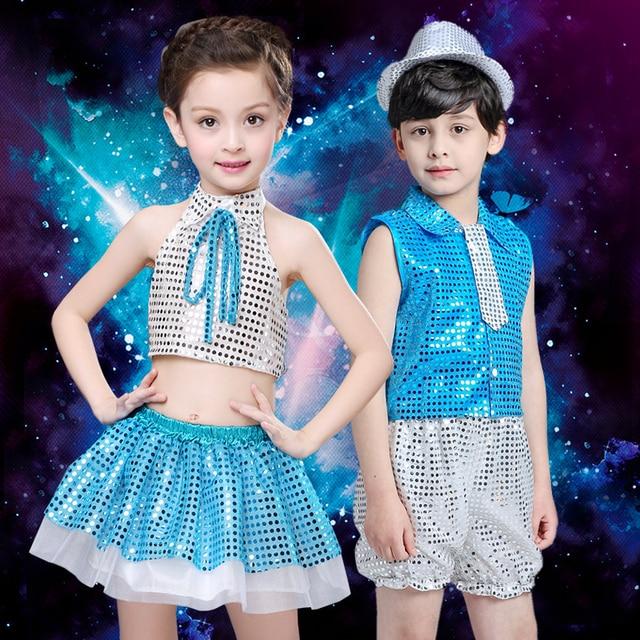 ea8778167 New Jazz Dancing Dress Kids Modern Dance Suit Kids Street Dancing ...