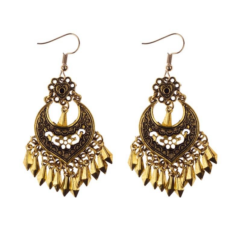 2020 perempuan Perunggu / Warna Silver Vintage Etnis Jhumka Jhumki - Perhiasan fashion - Foto 3