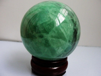 WBY 903++++++60mm Glow In The Dark Stone crystal Fluorite sphere ball