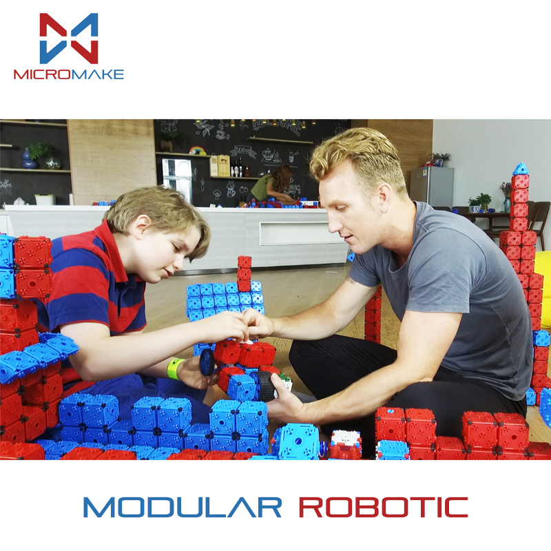 Micromake Kids Modular Robotic Engineering DIY Kit Christmas Gift For Family Technic STEM Educational Birthday Toys For Children