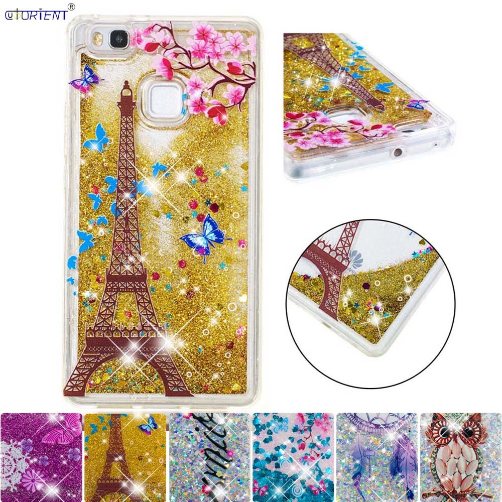 Phone Bags & Cases Generous For Huawei P9 Lite Glitter Bumper Cover P 9 G9 Lite Cute Bling Stars Dynamic Liquid Quicksand Fitted Case Vns-l21 Vns-l31 Funda