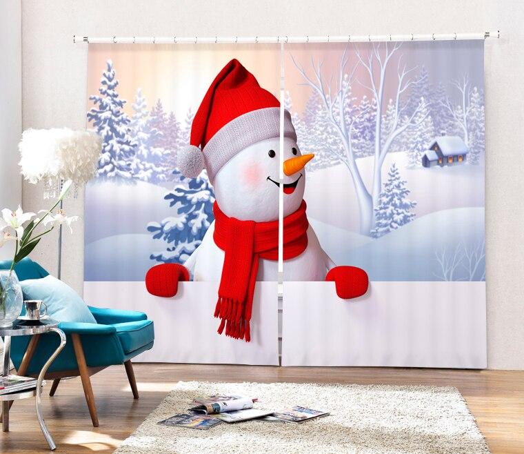 2017 Ombra Tessuto Tende Oscuranti Per Bambini Ragazzi Ragazze Biancheria Da Letto Di Stampa 3d Di Natale Room Living Room Tende Cotinas Para Vendita
