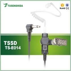 Black Air Tube 3,5 мм Высокое качество звука TS-E014 одного пальца наушники для портативной рации