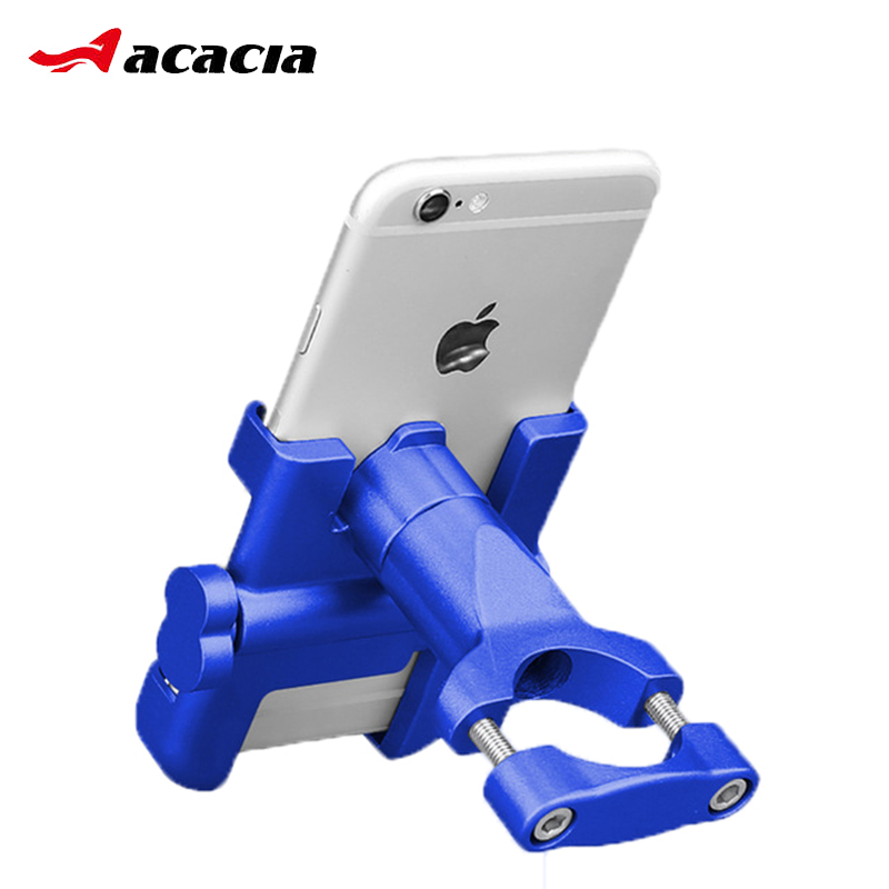360 Degrees Rotate Bicycle Phone Holder Aluminum Alloy Support For MTB Road Electric Bike Motorcycle Cycling Durable Rack Mount 360 degrees