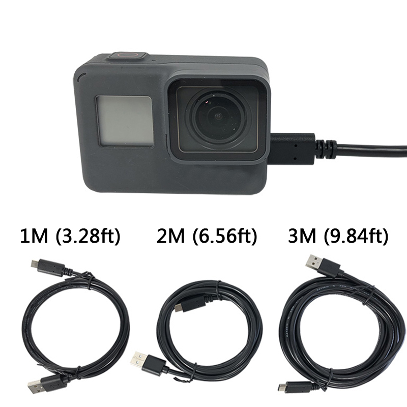 For Gopro Hero 8/7/6/5 Charging USB Hero5 Session Cable Type-c Sync Data USB Cable Go Pro 2018 Action Sport Camera Accessories