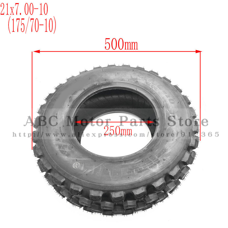 Atv Parts & Accessories 21x7.00-10 Atv Tire 175/70-10 Four Wheel Vehcile Motorcycle 10 Inch Atv Tyre Fit For Chinese 125cc 150cc Big Atv Front Wheels Atv,rv,boat & Other Vehicle