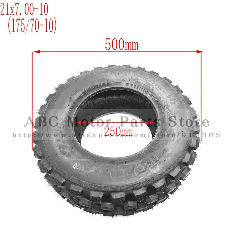 21X7. 00-10 ATV pneu 175/70-10 quatre roues vehcile moto 10 pouces ATV pneu adapté pour chinois 125cc 150cc grandes roues avant ATV