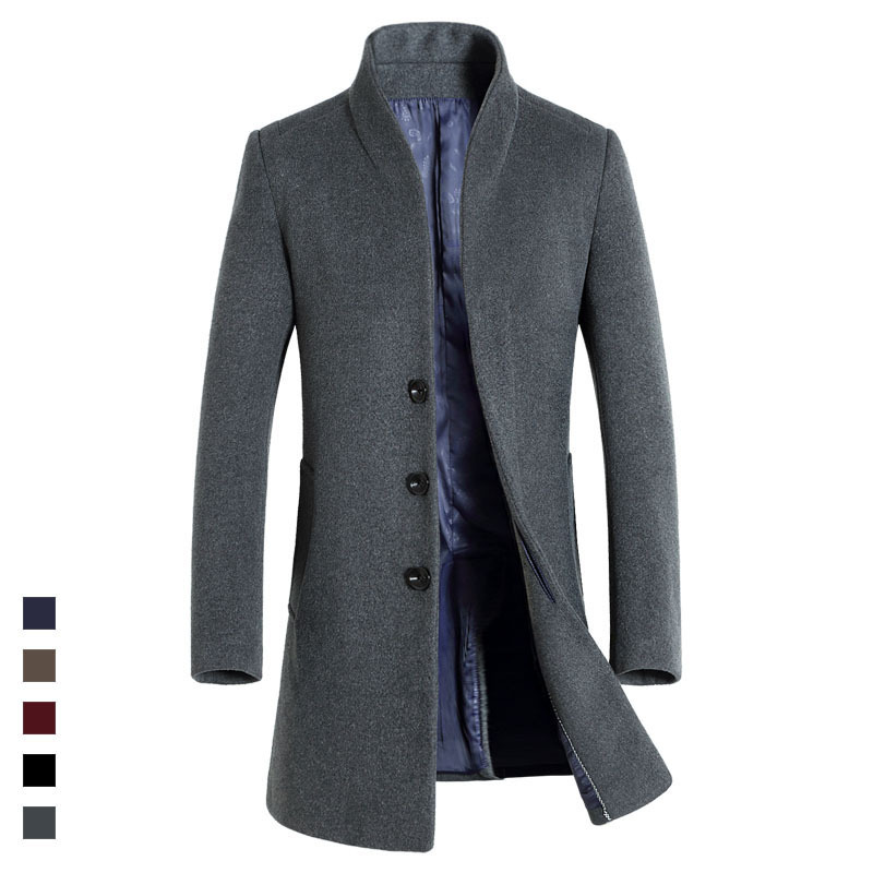 HAMPSON LANQE 2017 High Quality Classical Long Mens Wearing for Autumn Wool & Blends