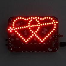 Stc12c5a60s2 чип DIY 3 мм красный светодиод Двойное сердце-образный свет w/Музыка DIY Kit 85 шт. LED дисплей Творческий электронный комплект