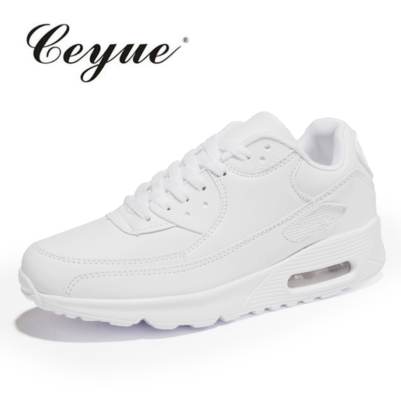 Basketball Shoes Women Air Cushion Athletics White Black Breathable Sports Shoes Height Increasing Sneakers Female Jogging Shoes