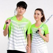 Новая быстросохнущая рубашка для бадминтона, теннисные майки мужские/женские, теннисная футболка, футболка для настольного тенниса, Спортивная футболка для бадминтона 5069