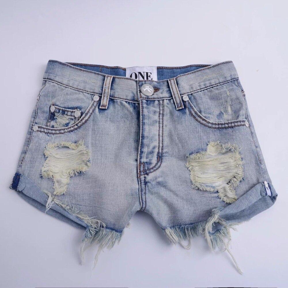 Aliexpress.com : Buy Denim Shorts Women Vintage ripped hole fringe ...