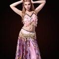 Moda Mulher Vestindo Traje de Dança Do Ventre Treino Para As Mulheres
